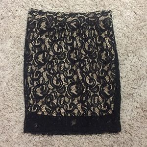 Maurice's Pencil Skirt Black Lace